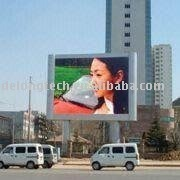 P20mm 4X3m full color RGB DIP video wall mounted outdoor led building advertising billboard