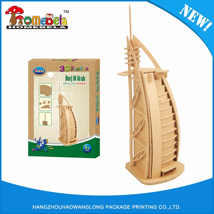 Guaranteed quality proper price building 3d paper model puzzle