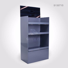 Pop up Corrugated Cardboard Displays Stand With 3 Shelves for Gift Retail Display Rack for Supermarket Shelf