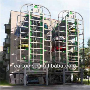 Vertical steel stucture car parking garage rotary parking system(A)