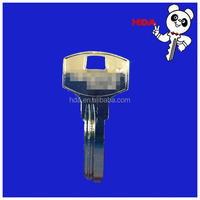 Hot sale best quality new type solid brass blank key nickel painted for Asia
