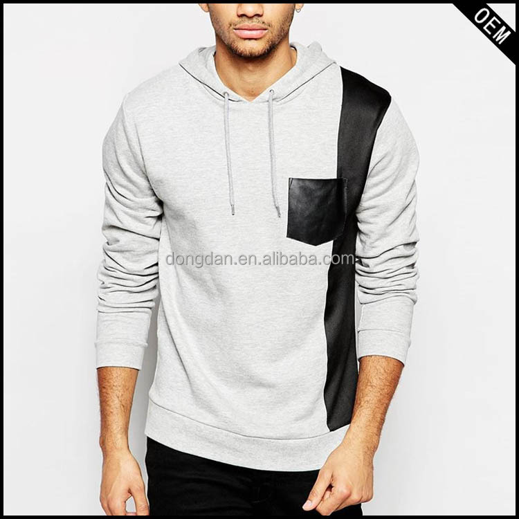 custom fashion 5xl hoodies without zipper leather pocket hoodie and cheap hoodies for sale