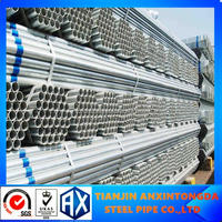 carbon steel pre galvanized pipe gi pipe for solar water heater