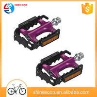 Steel ED or aluminum anodized cage sealed bearing cheap double pedal bicycle pedals
