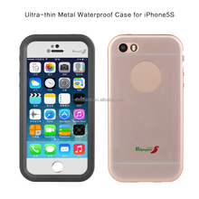 Shockproof Dustproof Waterproof Aluminum Metal Gorilla Glass Cover Case For iphone 5s
