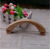 half moon log wood color wholesale handmade wooden bag handles