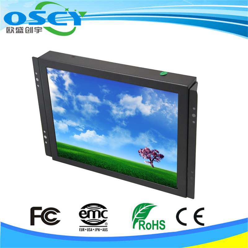 "Professional Industrial 8"" Open Frame LCD Touch Screen with Metal Frame ,AV/VGA/HDMI/DVI Input"