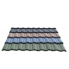 Traditional Tongyuan anti-UV stone coated steel roof sheet/low cost house construction material/balcony roof coverings