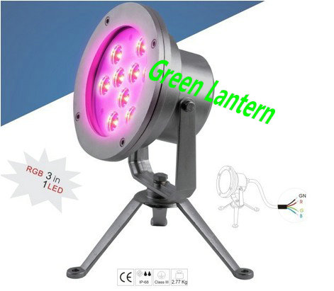6W 7W 9W 18W 27W IP68 stainless steel led Underwater spot light