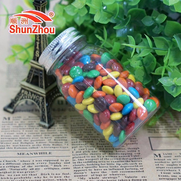70g wish bottle fastener shape crispy chocolate beans sweets