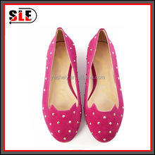 Foreign trade women's shoes round head rivet flat shoes The cat shoes for lady
