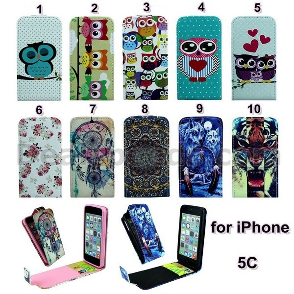 New Arrived Cross Texture Vertical Flip Magnetic TPU+PU Leather Case for iPhone 5C