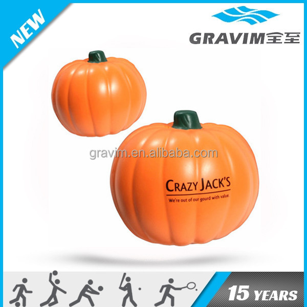 anti stress pu foam Halloween pumpkins shape toy