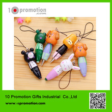 Wooden creative stationery ballpoint pen/colorful animal for children study