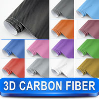 3 Years Warranty Best Price Car Wrapping Foil 3D Carbon Fiber Vinyl
