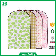 Factory price custom design lightweight non woven garment storage bag/dustproof suit cover