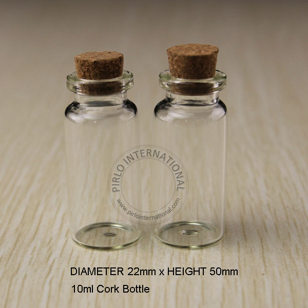 10ml small glass bottles vials jars with cork corks for Decorative vials