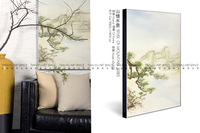 2016 Newest design Landscape oil painting with frames for hotel decoration