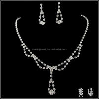 New Fashion Bridal Bridesmaid Wedding Crystal Necklace and Earring Jewelry SetsTL0414
