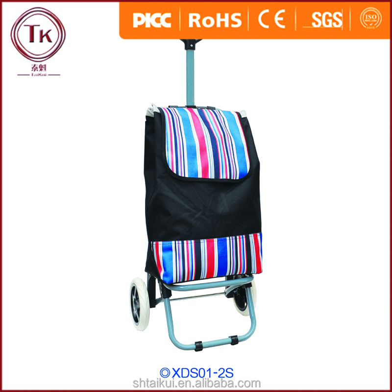Wholesale Vegetable Trolley Shopping Bag,Customized Shopping Trolley Bag With 2 Wheels