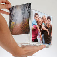 Plexiglass Cube paperweight clear acrylic cube photo frame holder