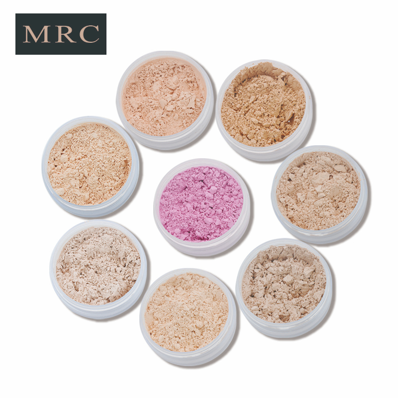 MRC Makeup Smooth Skin <strong>Face</strong> Finish Powder Foundation Loose Powder Jar Container With Sifter And Brush