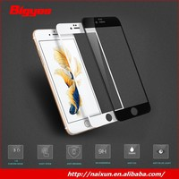Factory price 9H 3D 100% full cover premium tempered glass screen protector for sale for iphone 6