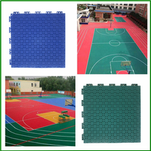Non-cracking non-bulking indoor and outdoor basketball multi-purpose sports court flooring