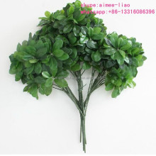Q111190 artificial tree branches and leaves decoration seven star leaves plastic tree branches