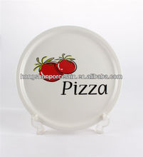 "10.5"" porcelain pizza plate / pizza warming plate"