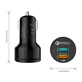 Aukey Qualcomm Quick Charger ,Aukey Car Charger 3.0 9V 12V 2 Ports for phone