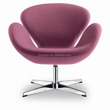 Arne jacobsen aluminum swan chair replica for home and hotel