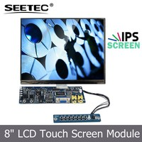 "High contrast 800:1 lcd screen display USB touch interface 4:3 IPS panel hdmi 8"" skd montior"