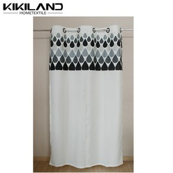Kikiland latest design water-drop pattern custom printing window curtains