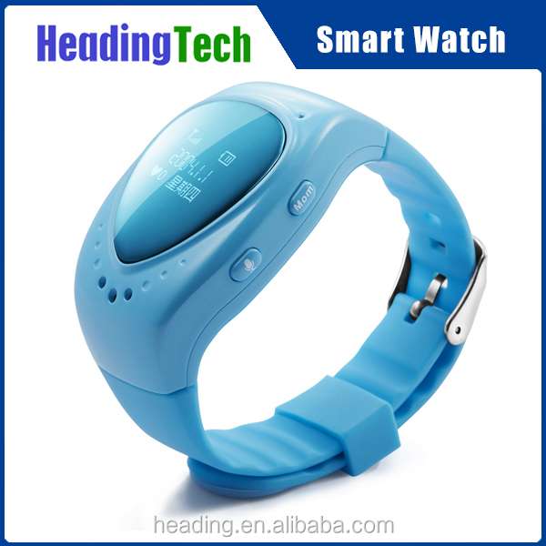Children GPS smart watch, T6 kids tracking watch with one key SOS, real-time track,interphone, geofence