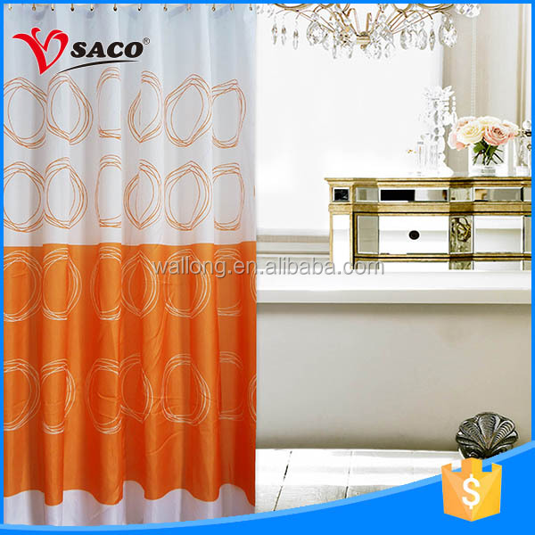 Hot sale polyester cheap shower curtain blackout for wholesales