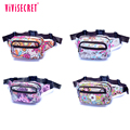 vivisecret personalized classical cellphone printed waist bags runners belt, travel waist money belt
