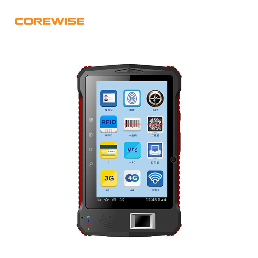 "Industrial rugged 7"" Android 6.0 OS Tablet with fingerprint sensor, RFID, Barcode scanner"