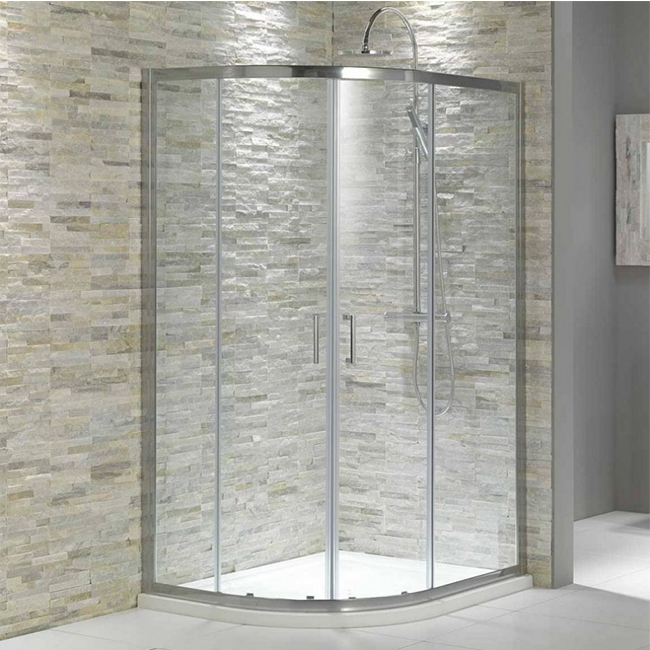 Hot sale and fire glass corner rectangular shower room