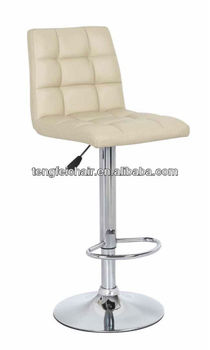 PU bar stool parts, Certificated SGS gas lift 360 degree swivel,385mm chroming base.