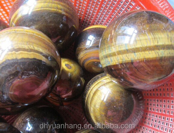 80-120mm natural large yellow tiger eye crystal spheres