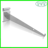 Supermarket metal shelf bracket/glass panel mounting brackets