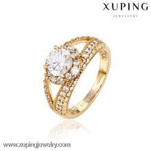 12745- China Xuping Fake 18k Gold Jewelry Beautiful Woman Rings