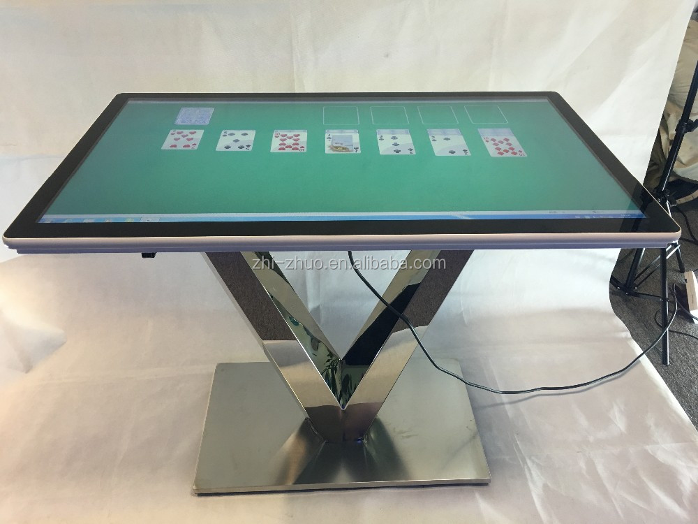 43 inch 55 inch touch screen coffee table with wifi/pc/3g