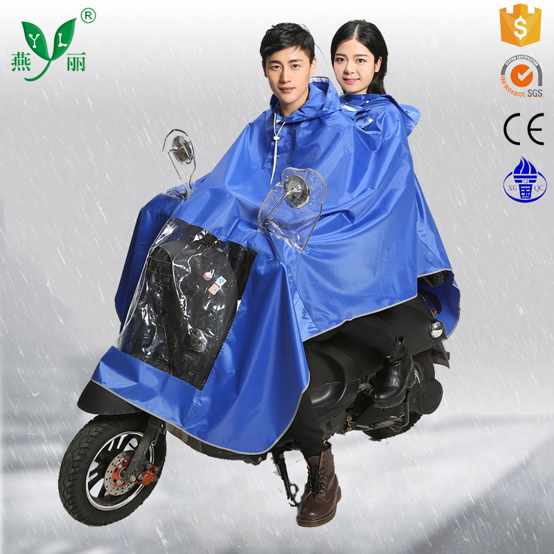 kid's rain poncho classical blue rain poncho transparent polyester rain poncho with customized logo