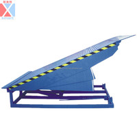 Stationary load ramp,container truck load unload