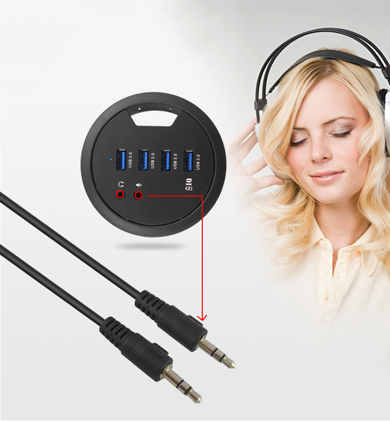 Usb 3.0 hub line four supports data read charging extended computer audio interface