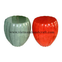 Eco-friendly handpainted vietnamese lacquer bamboo pumpkin shape coffee tables