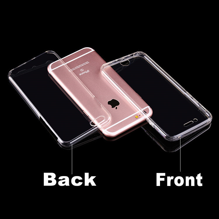 360 degree full cover crystal clear tpu case for apple iphone 6s transparent tpu case for iphone6 7 phone accessory