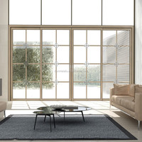 Aluminium sliding partition doors with glass---Auchan